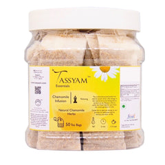Tassyam Chamomile Infusion | 50 Staple Free Tea Bags, Tea, Tassyam - Best Indian Teas