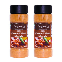Tassyam Pindi Chana Chhole Masala, 200g (100g x2) | Herbs & Spices, No Preservatives & Fillers, Spice, Tassyam - Best Indian Teas