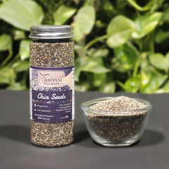 Tassyam Chia Seeds 200g Bottle, Dry Fruit, Gusto Spicerie - Best Indian Teas