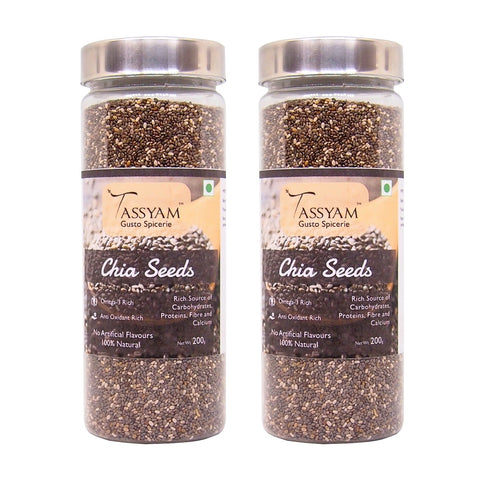 Tassyam Chia Seeds 200g Bottle