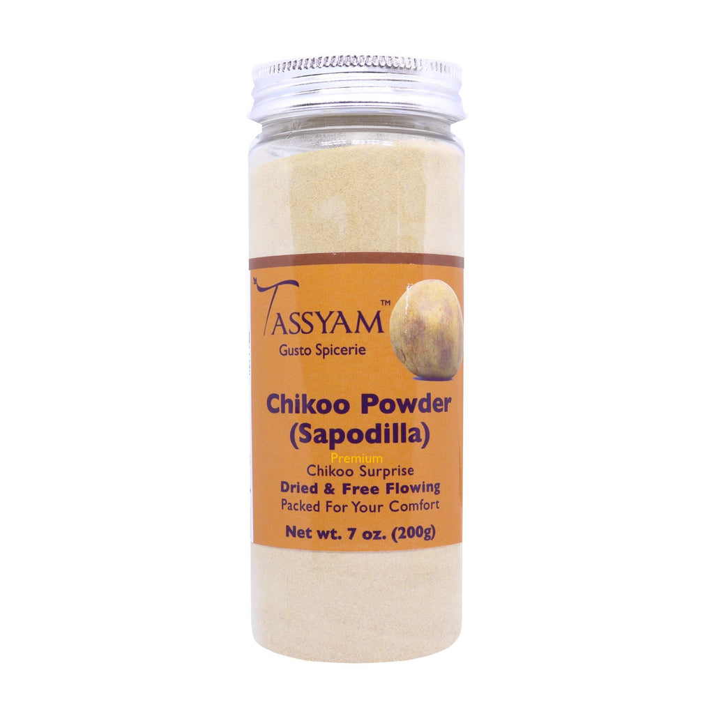 Tassyam Chikoo Powder 200g Bottle | Vegan & Natural Spaodialla/ Sapota, Spice, Tassyam - Best Indian Teas