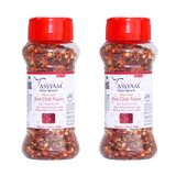 Tassyam Red Chili Flakes 100g (2x 50g) Dispenser Bottles, Spice, Tassyam - Best Indian Teas