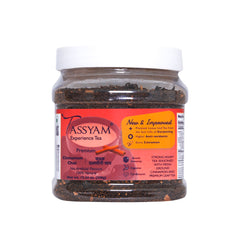 Tassyam Strong Assam Cinnamon Tea 350g Jar | NEW & IMPROVED Hand Crushed Cinnamon + Gold Blend CTC Chai With No Artificial Flavours, Tea, Tassyam - Best Indian Teas