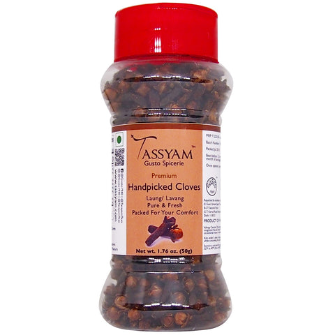 Tassyam Premium Handpicked Cloves 50g | Dispenser Bottle, Spice, Gusto Spicerie - Best Indian Teas