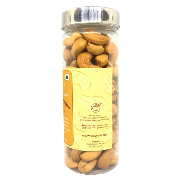 Oil-Free Roasted Cocktail Cashews - 300g (2x150g Jar)