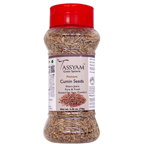 Tassyam Cumin Seeds 70g | Dispenser Bottle