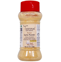 Tassyam Extra Strong Garlic Powder 80g | New & Improved | Dispenser Bottle, Spice, Gusto Spicerie - Best Indian Teas