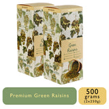 Seedless Afghan Green Raisins - 250g Box, Dry Fruit, Gusto Spicerie - Best Indian Teas
