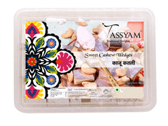 Tassyam Kaju Katli 500g Premium Box | Sweet Cashew Wedges, , Tassyam - Best Indian Teas
