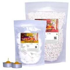 Tassyam Kheel Batashe and Diwali Lamp Combo 400g, Dry Fruit, Tassyam - Best Indian Teas
