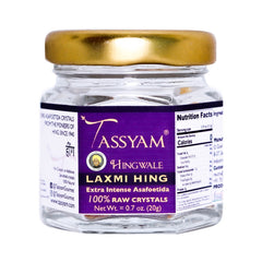 Tassyam Hingwale Laxmi Raw Hing Crystals 20g Bottle | 100% Pure & Natural