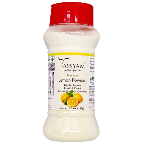 Tassyam Lemon Powder 100g | Dispenser Bottle