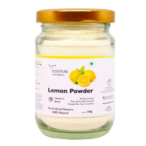 Tassyam Premium Lemon Powder 100g Botte