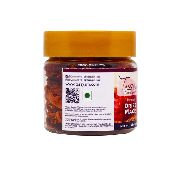 Tassyam Whole Mace 30g | Javitri by Tassyam, Spice, Tassyam - Best Indian Teas