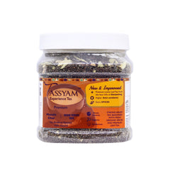 Tassyam Strong Assam Masala Tea 350g Jar | NEW & IMPROVED Hand Crushed Spices + Gold Blend CTC Chai With No Artificial Flavours, Tea, Tassyam - Best Indian Teas