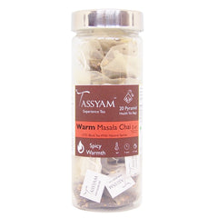 Tassyam Warm Masala Chai | 20 Pyramid Tea Bags, Tea, Tassyam - Best Indian Teas