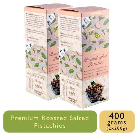 Roasted Salted Pistachios - 400g (2x 200g ) Box