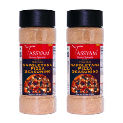 Tassyam Napoletana Pizza Seasoning 200g (2x 100g) | Dispenser Bottle, Italian Pizza Pasta Herb Masala, Spice, Gusto Spicerie - Best Indian Teas