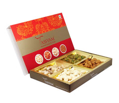 Diwali Dry Fruit Box | Premium Cashew, Almond, Pistachio & Raisin 200g, Diwali Giftset, Tassyam - Best Indian Teas