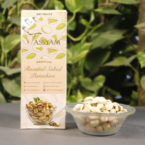 Roasted Salted Pistachios - 200g  Box, Dry Fruit, Gusto Spicerie - Best Indian Teas