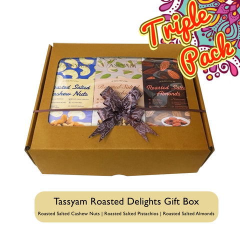 Diwali Roasted Dry Fruit Gift Pack, Dry Fruit, Tassyam - Best Indian Teas