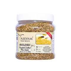 Tassyam Roasted Salted Golden Flax Seed 600g Jar, Dry Fruit, Tassyam - Best Indian Teas