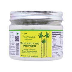 Tassyam Sugarcane Juice Powder 300g Jar | Vegan & Natural Sugar Replacement, Spice, Tassyam - Best Indian Teas