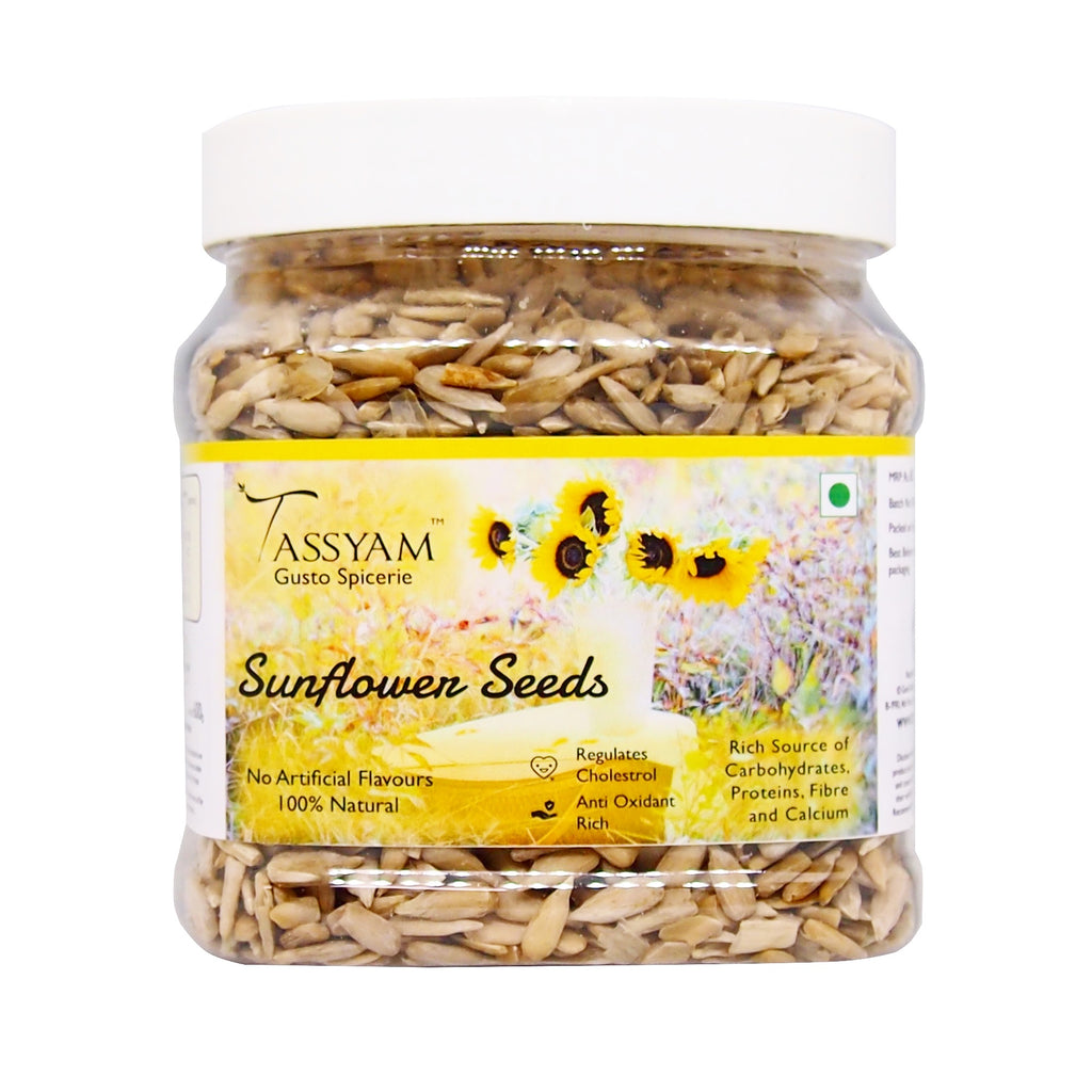 Tassyam Raw Sunflower Seeds 600g Jar