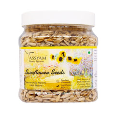 Tassyam Raw Sunflower Seeds 600g Jar, Dry Fruit, Gusto Spicerie - Best Indian Teas