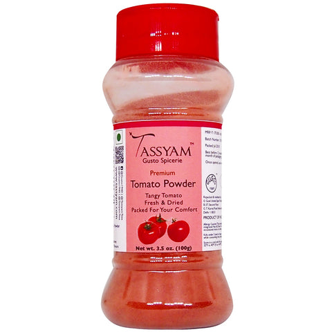 Tassyam Tomato Powder 100g | Dispenser Bottle, Spice, Gusto Spicerie - Best Indian Teas