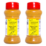 Tassyam Premium Yellow Chilli 160g (2x 80g) Dispenser | No Colours, All Natural, Spice, Tassyam - Best Indian Teas