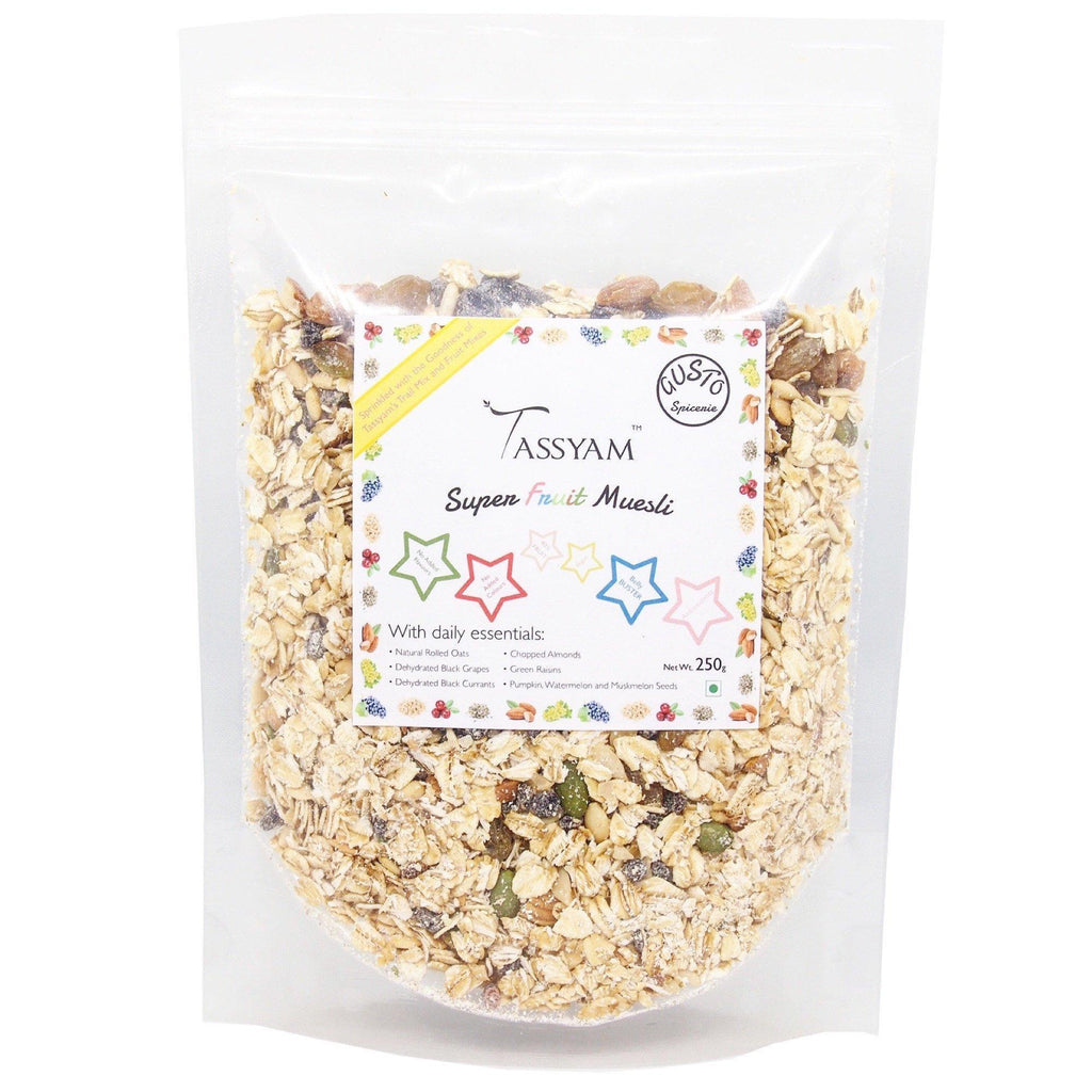 Gusto Spicerie Super Fruit Muesli 250g, Cereal, Gusto Spicerie - Best Indian Teas