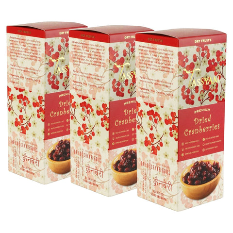 Gusto Spicerie Dry Fruit Dried Cranberries - 250g Box | Triple Diwali Pack