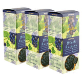 Seedless Afghan Black Raisins - 750g (3x 250g) Boxes | Limited Period Pack, Dry Fruit, Gusto Spicerie - Best Indian Teas