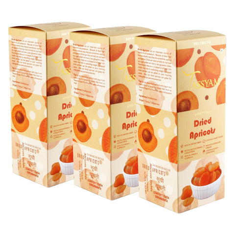 Gusto Spicerie Dry Fruit Turkish Dried Apricots - 200g Box | Triple Diwali Pack