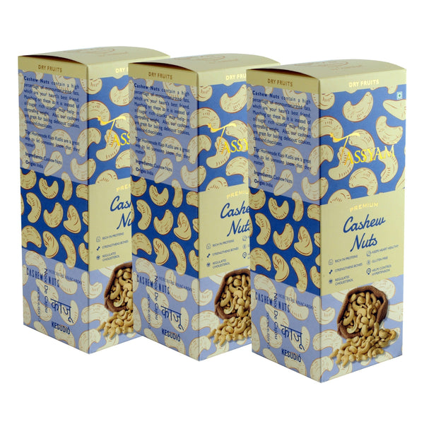 Gusto Spicerie Dry Fruit W240 Mangalore Cashew Nuts - 200g Box | Triple Diwali Pack