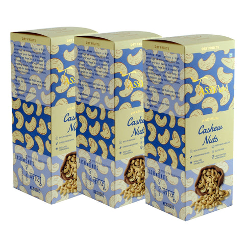 W240 Mangalore Cashew Nuts - 600g (3x 200g) Boxes | Limited Period Pack, Dry Fruit, Gusto Spicerie - Best Indian Teas