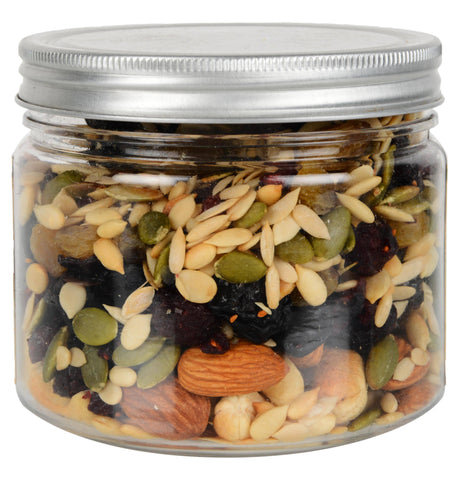 Gusto1940 Dry Fruit Toasted Trail Mix - 250g Jar (Salt & Oil-Free Roasting)