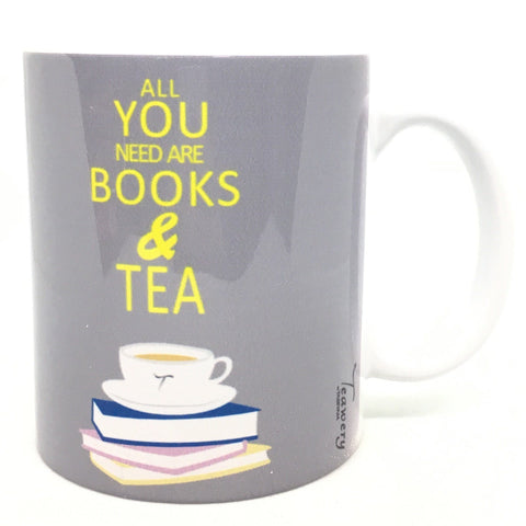 Tassyam Ceramic Mugs Teawery All You Need Are Books And Tea Ceramic Mug 330ml