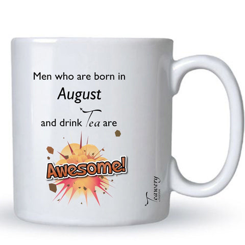 Tassyam Ceramic Mugs Teawery August  Birthday Tea Lover's Awesome Mug 330ml by Tassyam