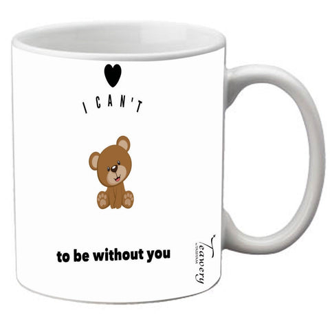 Teawery Can't Bear Ceramic Mug 330ml by Tassyam, Ceramic Mugs, Tassyam - Best Indian Teas