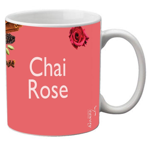 Tassyam Ceramic Mugs Teawery Chai Rose Ceramic Mug 330ml by Tassyam
