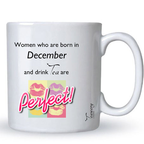 Teawery December  Birthday Tea Lover's Perfect Mug 330ml by Tassyam, Ceramic Mugs, Tassyam - Best Indian Teas