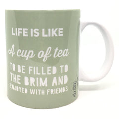 Teawery Life & Cup Of Tea Ceramic Mug 330ml, Ceramic Mugs, Tassyam - Best Indian Teas