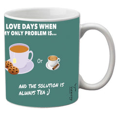 Teawery TEA or coffee Ceramic Mug 330ml by Tassyam, Ceramic Mugs, Tassyam - Best Indian Teas