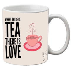 Teawery There Is Tea There Is Love Ceramic Mug 330ml by Tassyam, Ceramic Mugs, Tassyam - Best Indian Teas