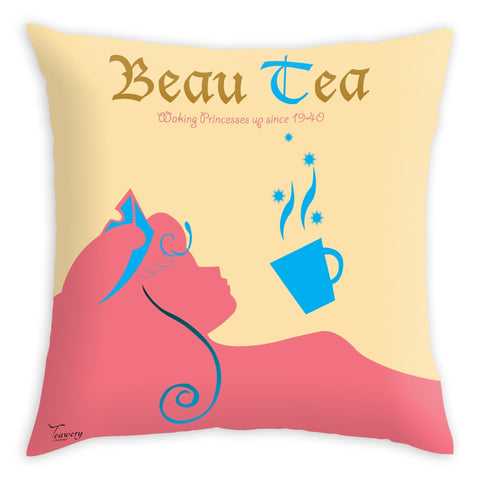 Teawery Beau-Tea Cushion Cover 16x16, Cushion Cover, Tassyam - Best Indian Teas
