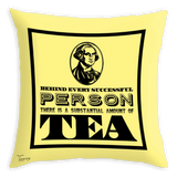 Teawery Behind Every Successful Person Satin Cushion Cover 16x16 by Tassyam, Cushion Cover, Tassyam - Best Indian Teas