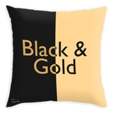 Teawery Black & Gold Satin Cushion Cover 16x16 by Tassyam, Cushion Cover, Tassyam - Best Indian Teas