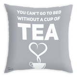 Teawery Can't Go To Bed Satin Cushion Cover 16x16 by Tassyam, Cushion Cover, Tassyam - Best Indian Teas